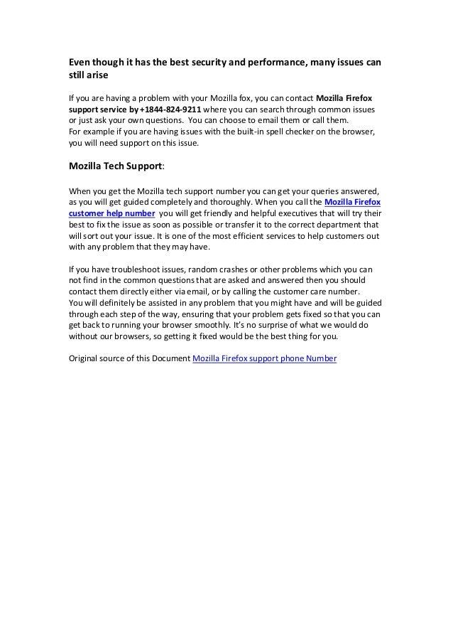 Mozilla Firefox +1-844-824-9211 Browser tech Service