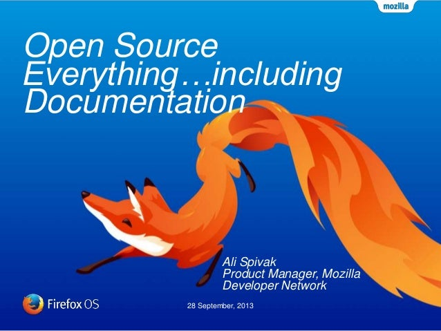 Open Source Everything   including documentation