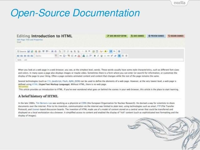 Open-Source Documentation