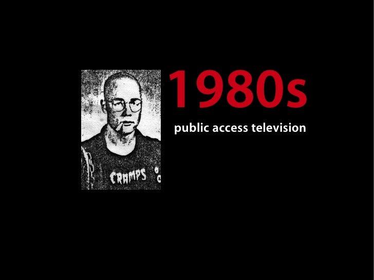 1980s public access television