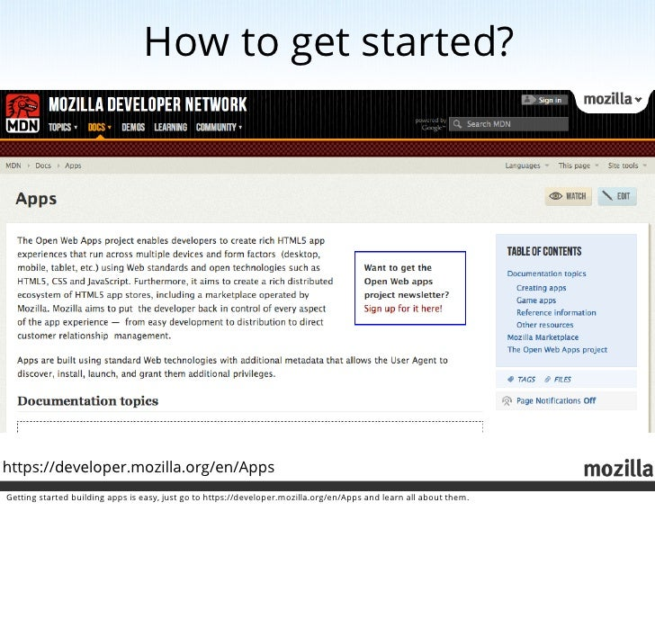 Mozilla the web and you