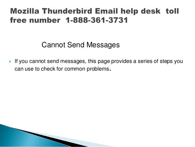 Mozilla Thunderbird Email Help Desk Toll Free Phone Number