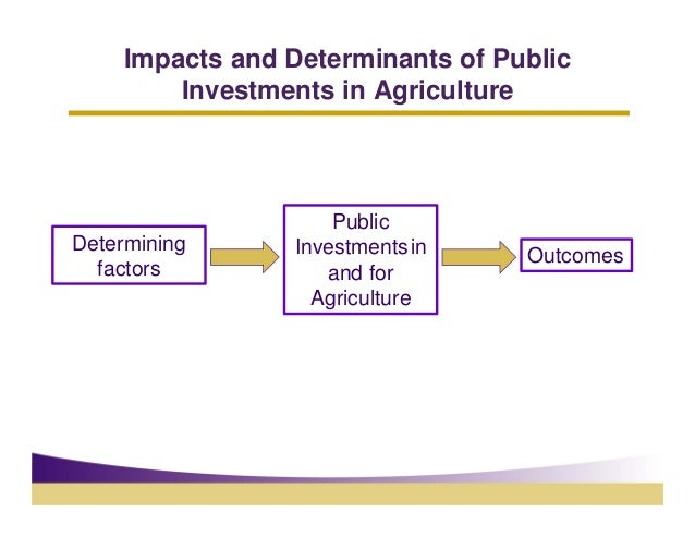 Impacts and Determinants of Public        Investments in Agriculture                    PublicDetermining     Investments ...