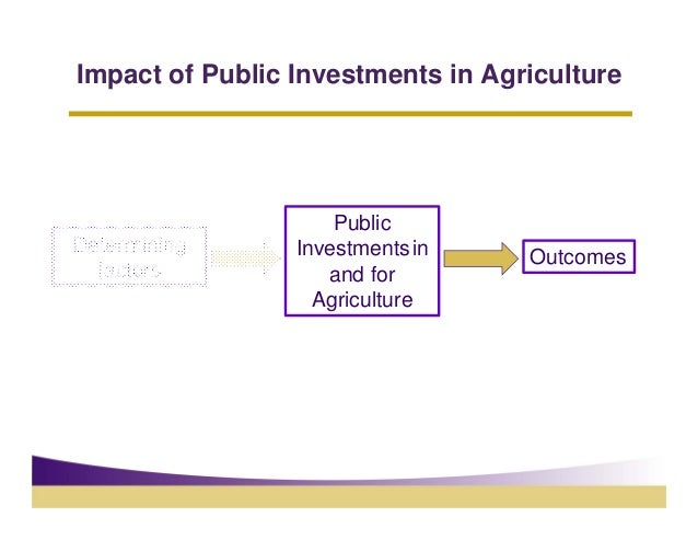 Impact of Public Investments in Agriculture                     PublicDetermining      Investments in    Outcomes  factors...