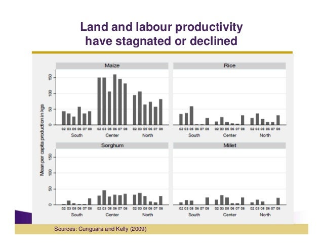 Land and labour productivity          have stagnated or declinedSources: Cunguara and Kelly (2009)