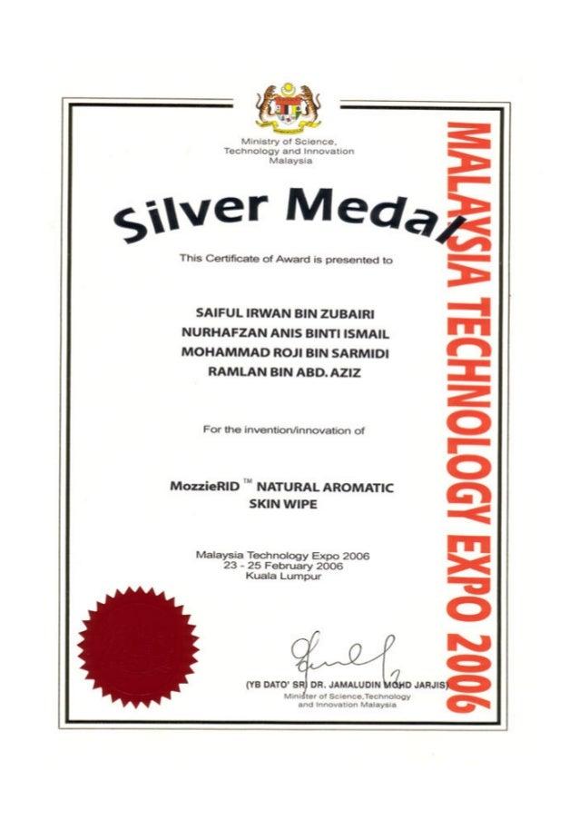 Mozzie-RID Award Winning Invention (MTE 2006)