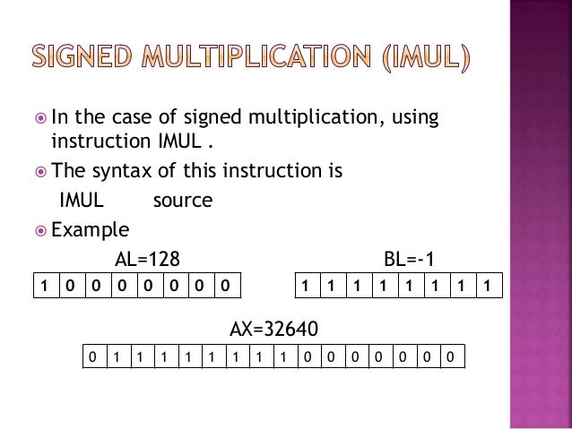 Assembly - Arithmetic Instructions