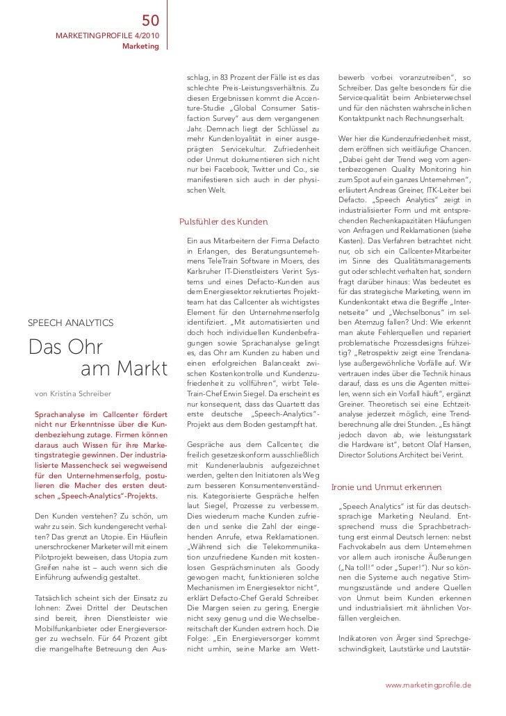 50       marketingprofile 4/2010                    Marketing                                             schlag, in 83 pr...