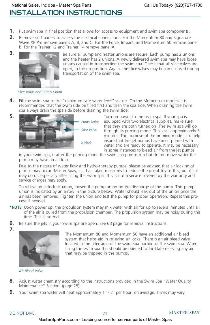 Master Spa Wiring Diagram For Light Switch Hot Tub 220 Mp Swim Spas Owners Manual Rh Slideshare Net Breaker