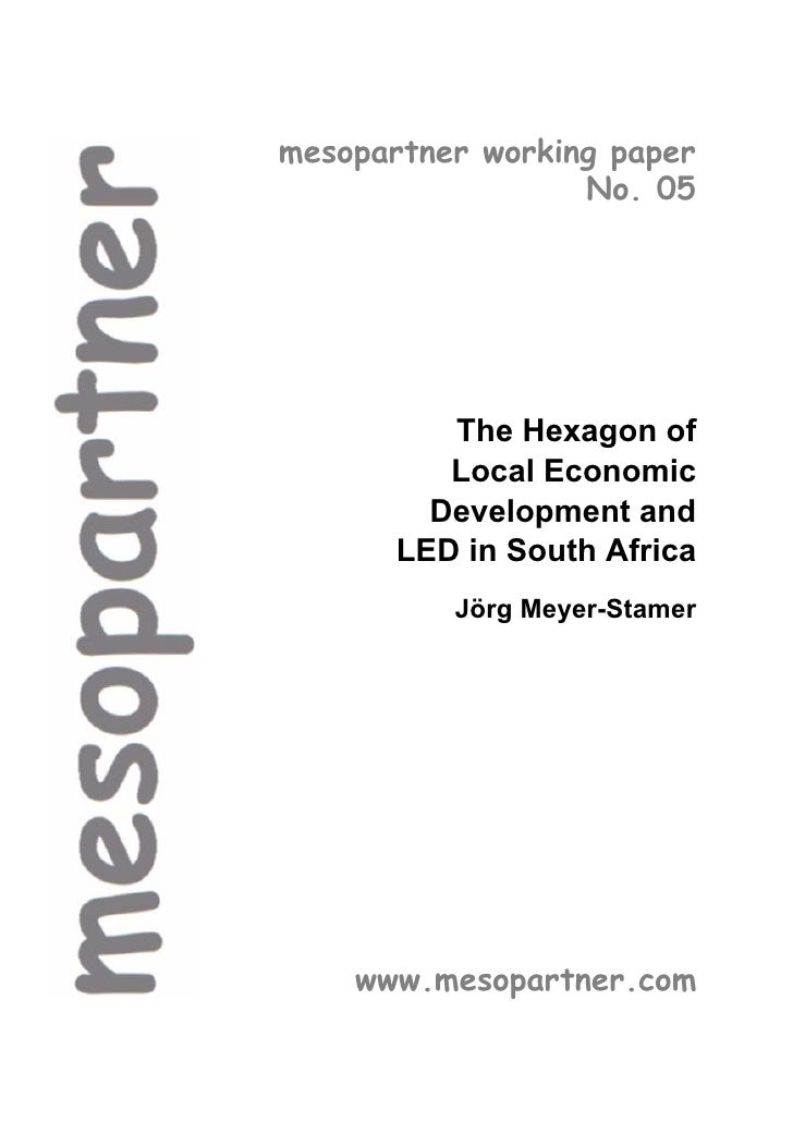 mesopartner working paper                  No. 05          The Hexagon of          Local Economic         Development and ...