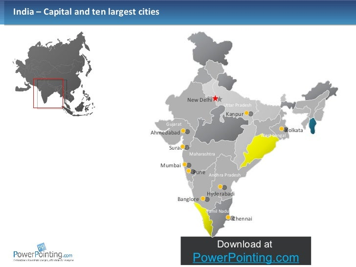 Powerpoint India Map