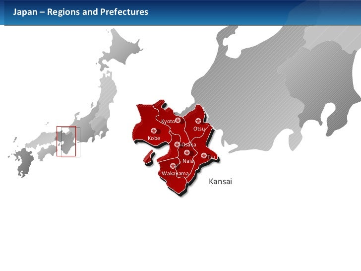 Powerpoint Japan Map - Japan map red