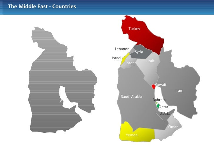 Powerpoint Middle East Map
