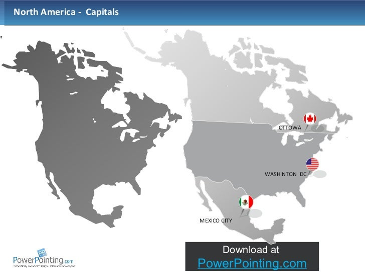 Powerpoint North America Map