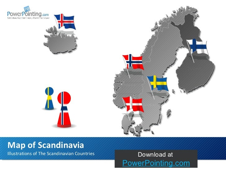 Illustrations of The Scandinavian Countries Map of Scandinavia Sweden Finland Norway Download at  SlideShop.com
