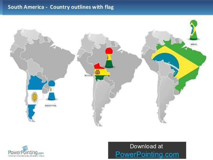 Powerpoint South America Map - Argentina map in south america
