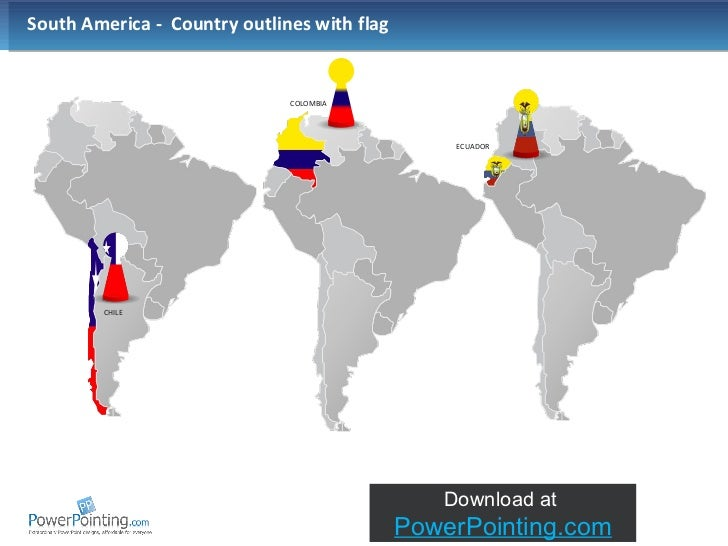 Powerpoint South America Map - Colombia map south america