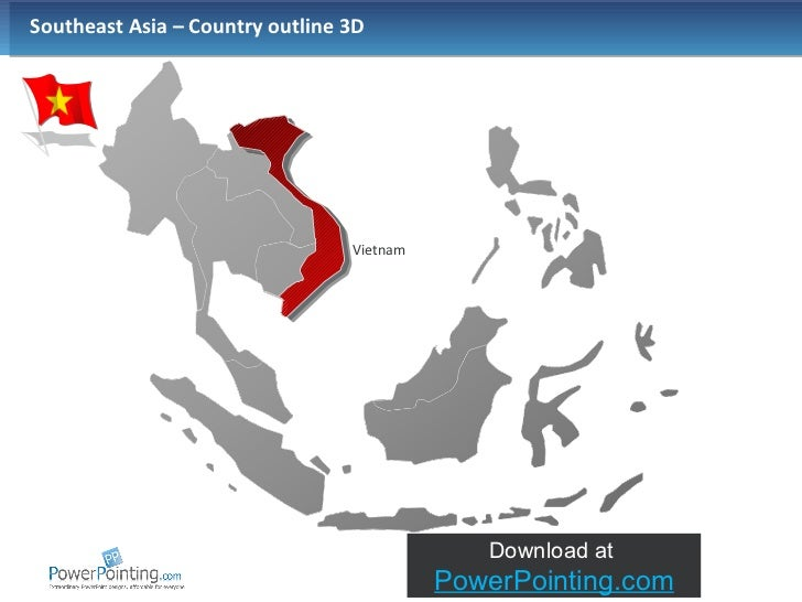 Powerpoint Southeast Asia Map