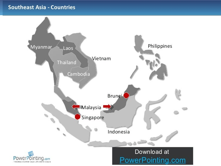 Map Of Asia 3d.Powerpoint Southeast Asia Map
