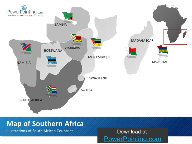 Powerpoint Southern Africa Map