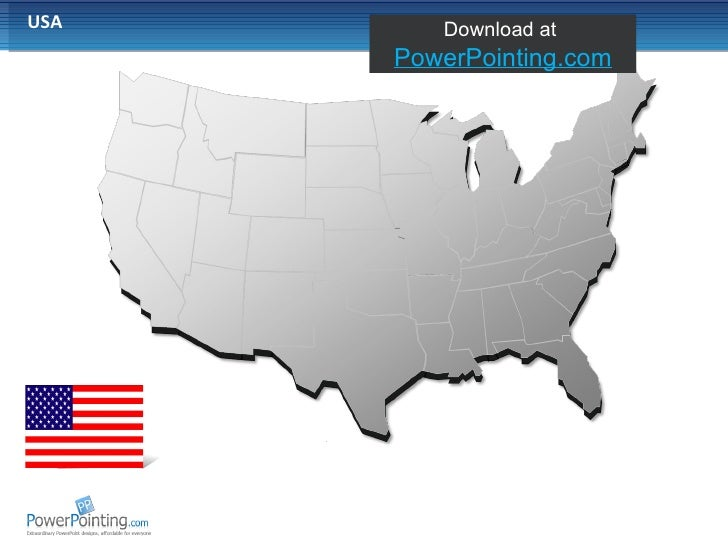 map of usa for powerpoint