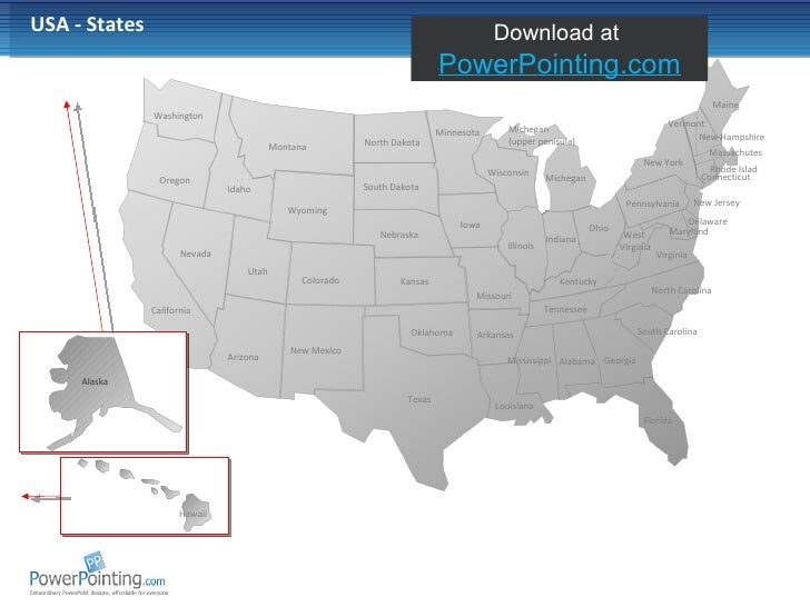 Powerpoint Usa Map - Usa map ppt