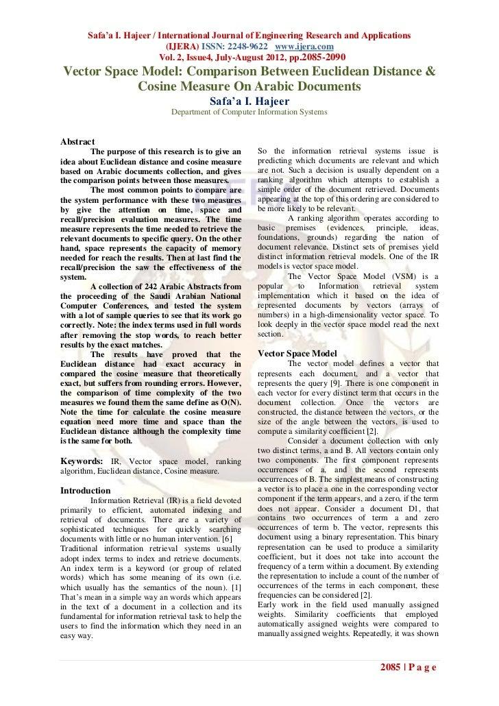 Safa'a I. Hajeer / International Journal of Engineering Research and Applications                             (IJERA) ISSN...