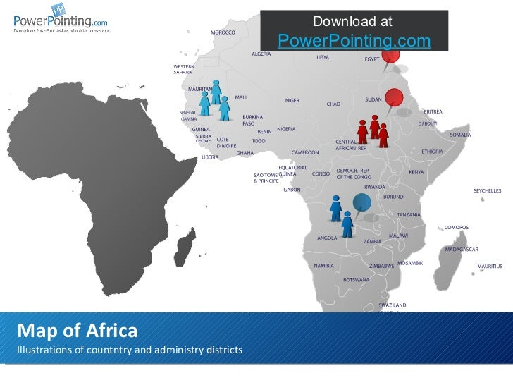 Illustrations of countntry and administry districts Map of Africa Download at  SlideShop.com