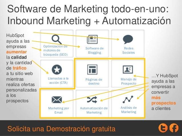 Software de Marketing todo-en-uno: Inbound Marketing + Automatización HubSpot ayuda a las empresas aumentar la calidad y l...