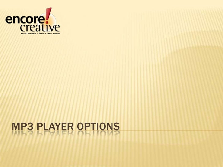 MP3 Player Options<br />
