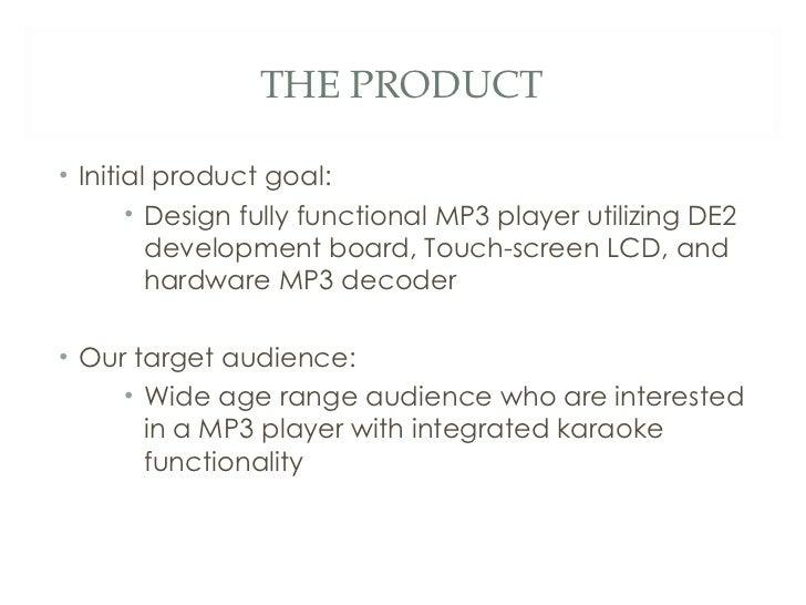 Mp3 player project presentation Slide 2