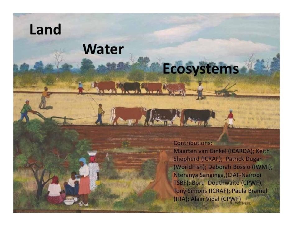 Land        Water                 Ecosystems                     Contributions:                  MaartenvanGinkel (ICAR...