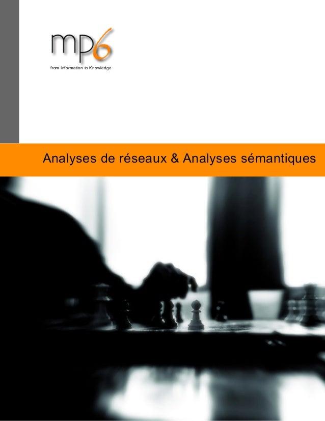 Analyses de réseaux & Analyses sémantiques from Information to Knowledge