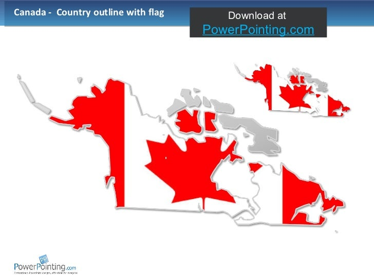 Canada -  Country outline with flag