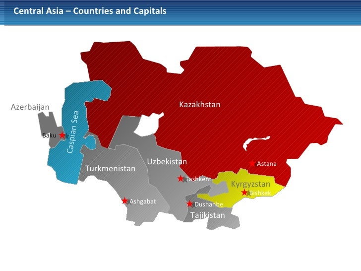 3 central asia countries and capitals