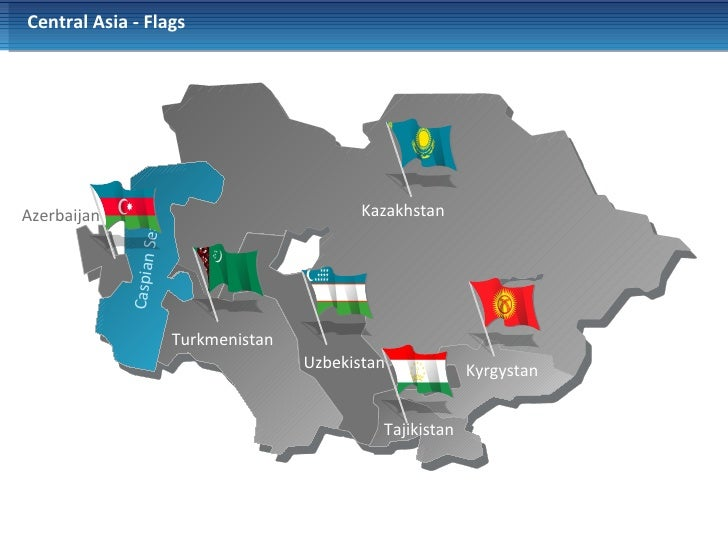 Powerpoint Central Asia Map