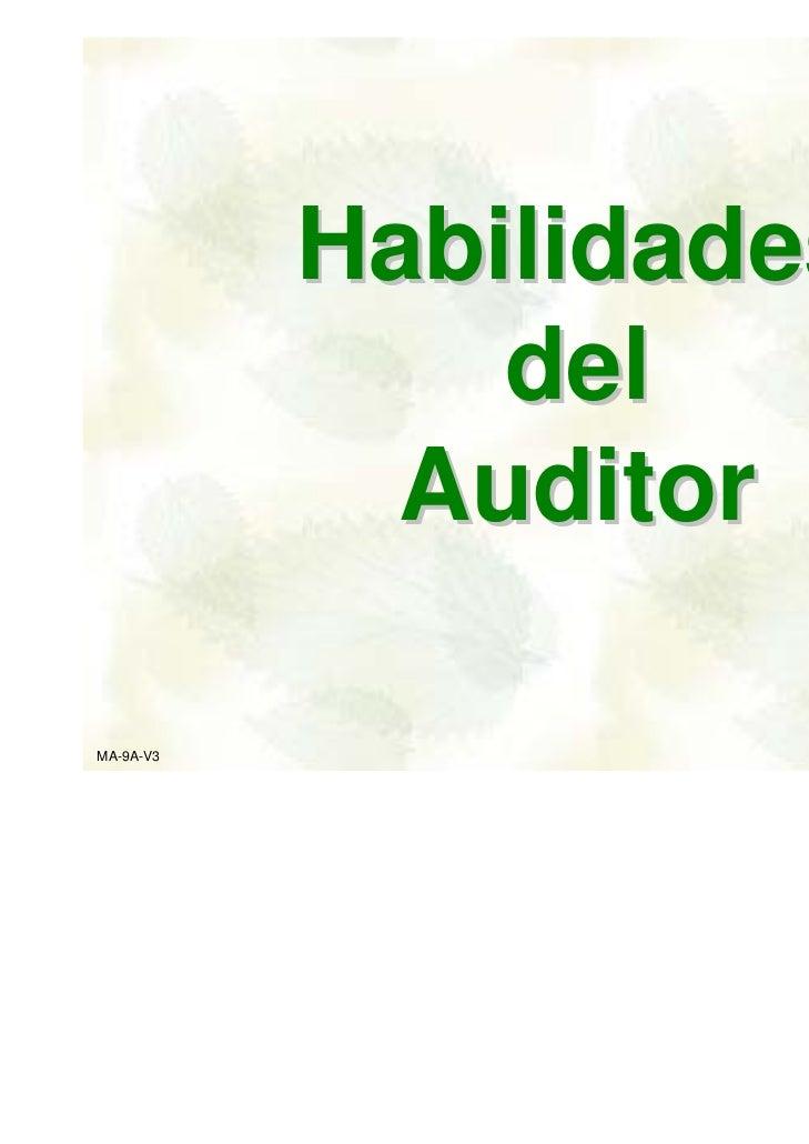 Habilidades               del             AuditorMA-9A-V3