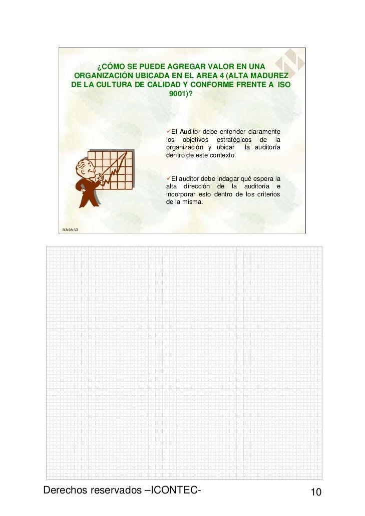 ¿CÓMO SE PUEDE AGREGAR VALOR EN UNA        ORGANIZACIÓN UBICADA EN EL AREA 4 (ALTA MADUREZ       DE LA CULTURA DE CALIDAD ...