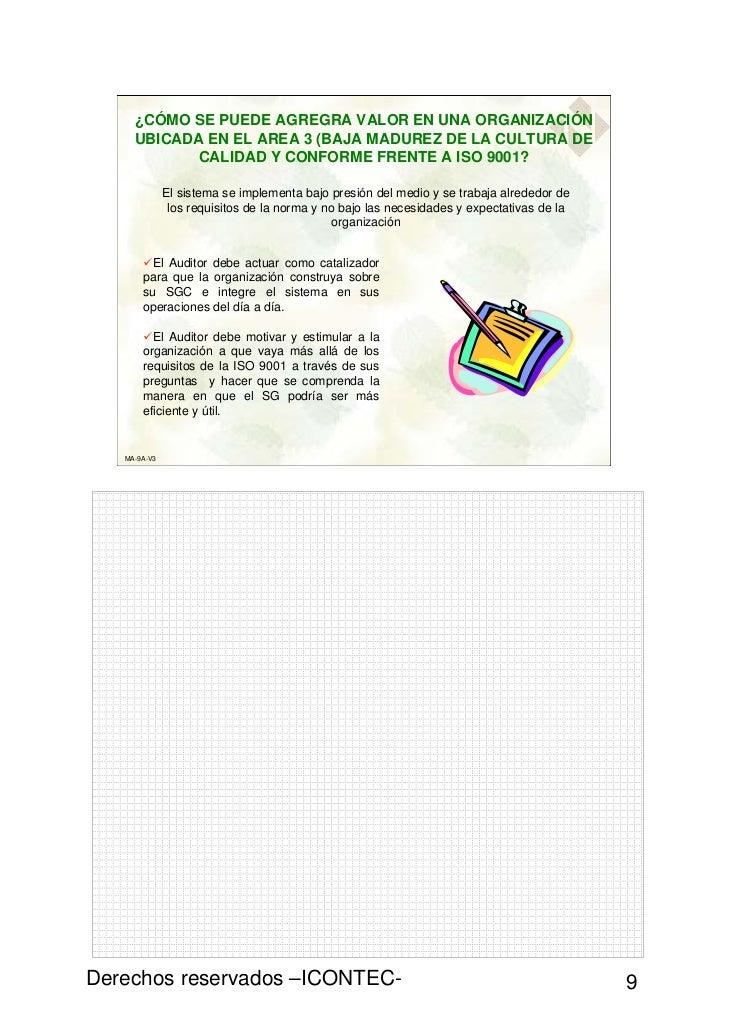 ¿CÓMO SE PUEDE AGREGRA VALOR EN UNA ORGANIZACIÓN     UBICADA EN EL AREA 3 (BAJA MADUREZ DE LA CULTURA DE            CALIDA...