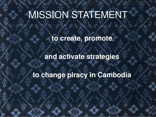 MISSION STATEMENT Whenever possible, to promote de-criminalization of the current supply chain and incorporate existing bu...