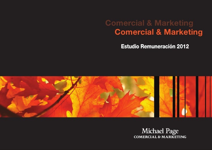 Comercial & Marketing  Comercial & Marketing   Estudio Remuneración 2012