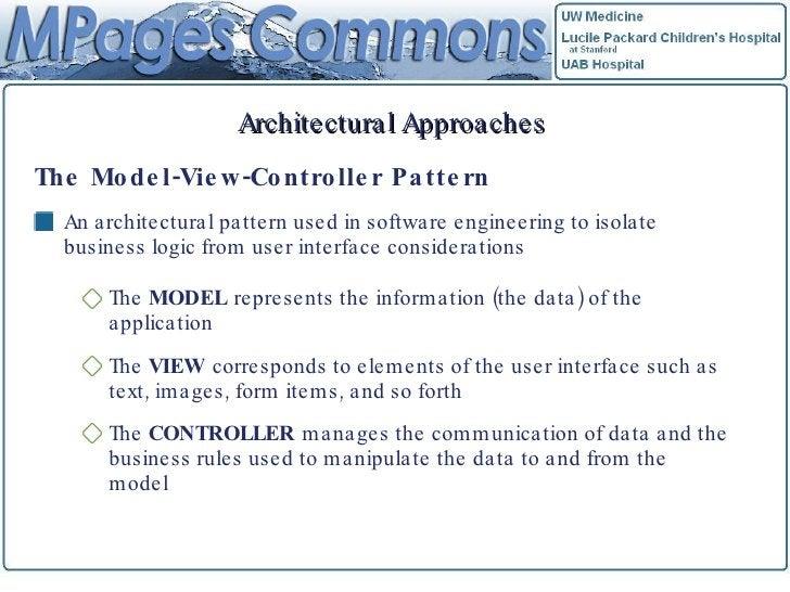 Architectural Approaches <ul><li>The Model-View-Controller Pattern </li></ul><ul><li>An architectural pattern used in soft...