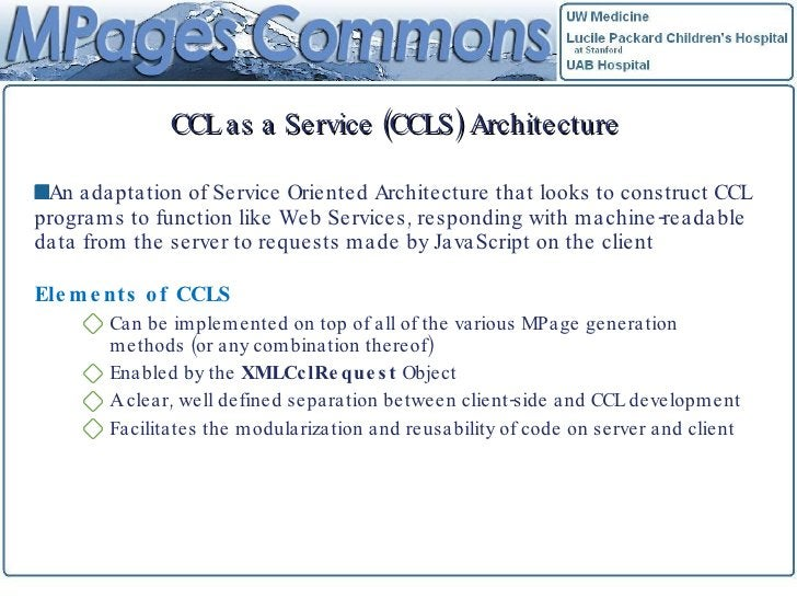 CCL as a Service (CCLS) Architecture <ul><li>An adaptation of Service Oriented Architecture that looks to construct CCL pr...