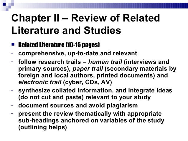 Write chapter 2 research paper