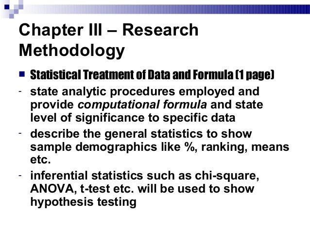 thesis statistical treatment of data There are two formulas used in getting the simple percentage in statistical treatment in it is a part of your thesis where your gathered data is being.