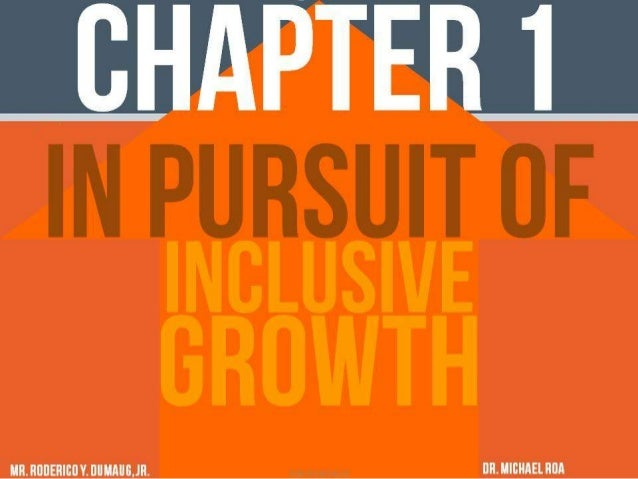 Philippine Development Plan: In Pursuit of Inclusive Growth
