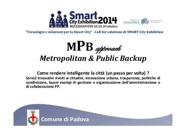 """Tecnologie e soluzioni per la Smart City"" - Call for solutions di SMART City Exhibition  MPBtÑÑÜÉtv{  Metropolitan & Publ..."