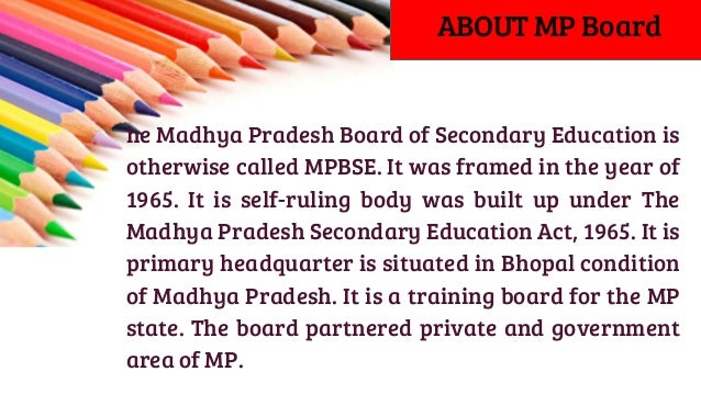 MP Board 10th Result Declaration Is On 14th May 2016 Slide 2