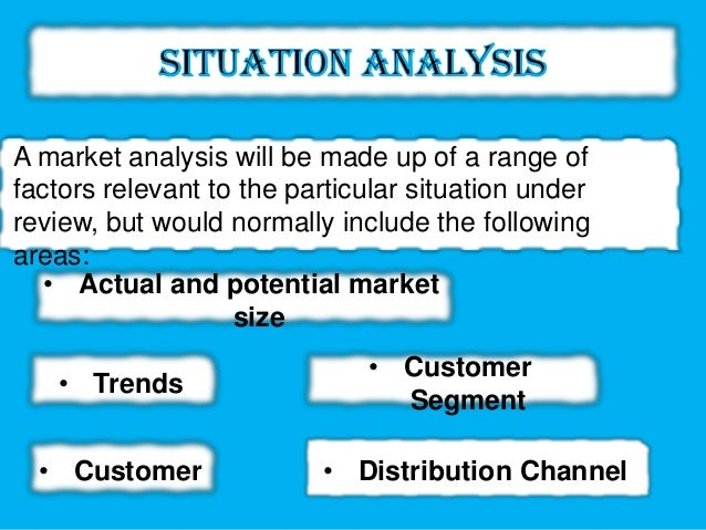 current marketing situation situational analysis Situation analysis 5c is a comprehensive analysis of capturing all relevant information and factors (internal and external) that affect the present and future situation of the organization using situation analysis organization collects information about their strengths and weaknesses, opportunities and threats.