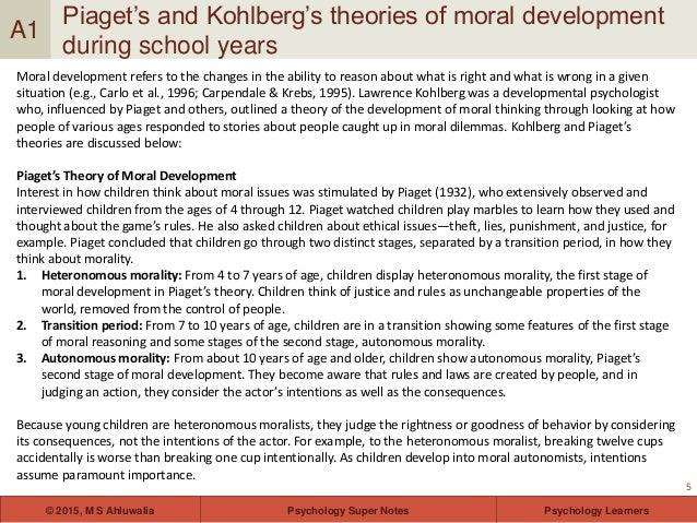 discuss theories of moral development